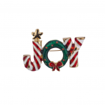 Christmas Xmas Green White Red Holiday Candy Cane Brooch Pin