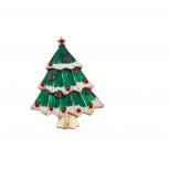 Holiday Festive Christmas Xmas Tree Brooch Pin
