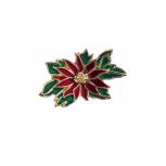 Holiday Festive Christmas Xmas Floral Holly Brooch Pin