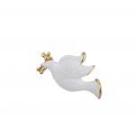 Holiday Festive Christmas Xmas White Dove Brooch Pin
