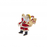 Christmas Xmas Holiday Santa Claus Enamel Brooch Pin
