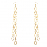 Gold Tone Ball Station Break Dangle Fashion Earrings For Women