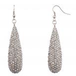 Tear Drop Pave Crystal Bridal Dangle Earrings