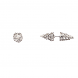 Crystal Pave Pyramid Spike Stud Earrings