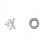 Pave Crystal X O Stud Love Earrings