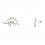 Stegosaurus Dinosaur Zoo Animal Stud Earrings Women's Kids & Girls.