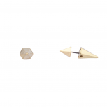 Spiked Ends Simple Stud Spike Earrings