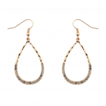 Teardrop Tear Drop Pave Crystal Earrings