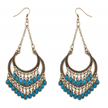 Turquoise Chandelier Dangle Earrings