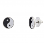 Yin Yang Peace Stud Earrings Women's Girls & Kids
