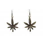 Marijuana Pot Leaf Weed 420 Drop Dangle Earrings