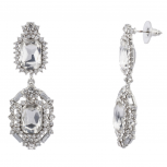 Bridal Pave Crystal Elegant Statement Earrings