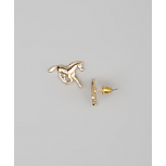 Kids Girls Gold Running Horse Stud Earrings
