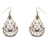 Elegant Textured Dangle Earrings