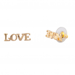 Womens Kids Girls LOVE Stud Earrings