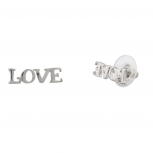 Womens Kids Girls LOVE Stud Earrings.