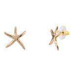 Womens Kids Girls Starfish Stud Earrings
