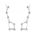 Silver Tone Celestial Star Ear Cuff Creeper Threader Earrings