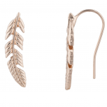 Rose GoldTone Boho Casted Feather Creeper Ear Cuff Ear Threader