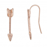 Rose Gold Tone Casted Arrow Ear Cuff Ear Creepers Ear Threader