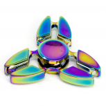 Rainbow Trendy Kids Adult Toy Tri Fidget Spinner Hand Spinner