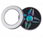 Oil Slick Trendy Kids Adult Quad Toy Fidget Spinner Hand Spinner
