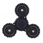 Matte Black Trendy Kids Adult Tri Toy Fidget Spinner Hand