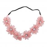 Pink Flower Crown Festival Easter Flower Girl Headband Headwrap