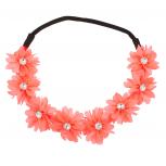 Floral Flower Crystal Stretch Headband Head Band