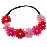Shades of Pink Flower Floral Chiffon Headband