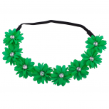 Green Flower Floral Chiffon Headband