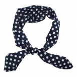 Black White Polka Dot Chiffon Pin Up Girl HeadTie SCarf Headband
