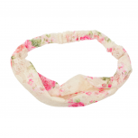 Floral Fabric Flower Stretch Headband Head Wrap