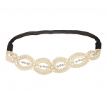 Pave Ivory Stretch Headband