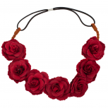Rose Flower Floral Woven Stretch Headband Head Band