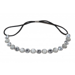 Rhinestone Chain Link Stretch Headband Head Band