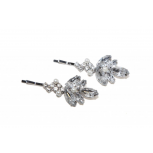 Clear Bridal Rhinestone Faux Faux Pearl Hair Clip Bobby Pin (2 PC)