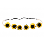 Braided Sunflower Stretch Coachella Headband