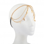 Bling Lace Head Chain Wrap Leaf