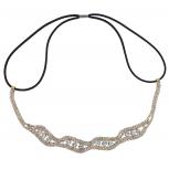 Gold Tone Crystal Pave Rhinestone Bridal Headwrap Headband