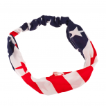 American Flag Stars Stripes 4th Of July Stretch Headband Head Band.