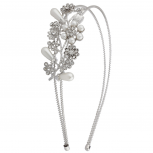 Bride Bridal Floral Pearl Statement Headband