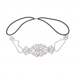 Pave Crystal Bridal Elegant Stretch Headband Head Band