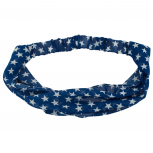 American Stars Without The Stripes Stretch Blue Headband Head Band Wrap