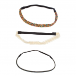 Lace Woven Rainbow Stretch Headband Set Head Band (3 PC)