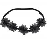 Glitter Polka Dot Floral Flower Headband