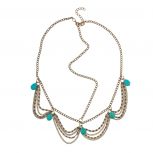 Turquoise Stone Chain Link Head Chain