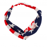 American Flag July 4th Independence Day Red White & Blue Stretch Headband