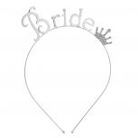Silver Tone Rhinestone Crown Bride Bridal Bachelorette Headband