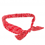 Stretch Red Bow Fabric Pattern Biker Headband Head Band